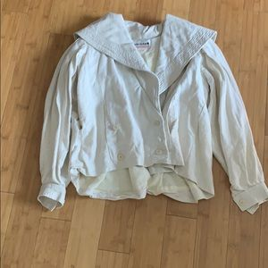 Sailor collar vintage linen jacket